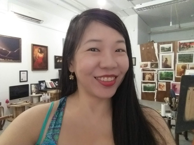 Martha's Selfie at Kelvin Lim's Studio