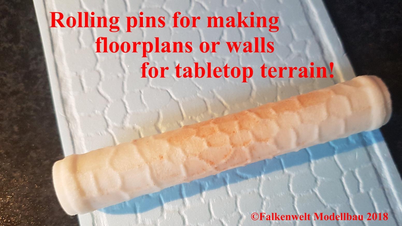 Rolling Pins For Making Floor Plans Walls By Falkenwelt Modellbau