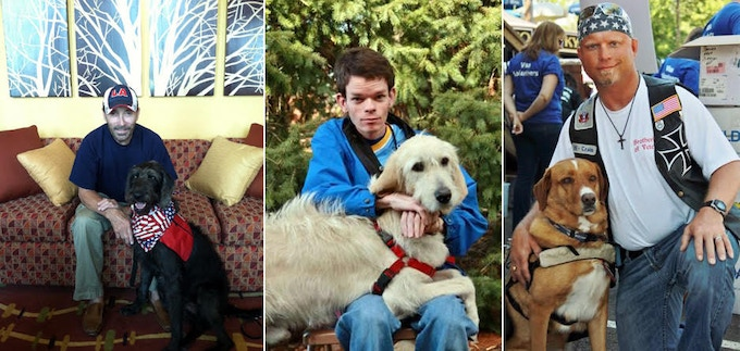Service Dogs are matched with people based on the dog's skills and the person's disabilities whether those disabilities are physical, developmental, emotional (PTSD) or a combination thereof.