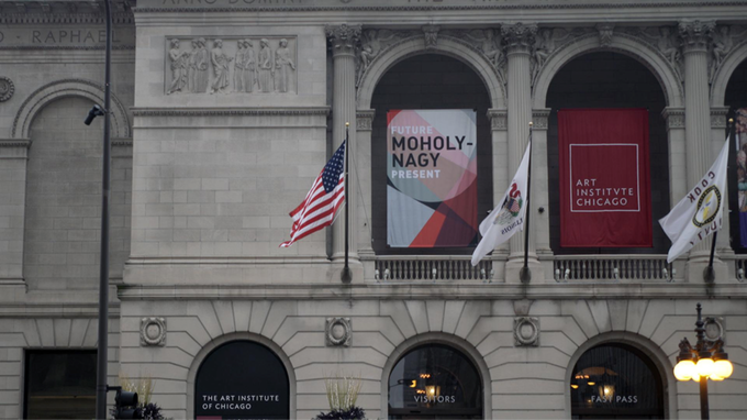 Moholy-Nagy's retrospective at the Art Institute of Chicago.