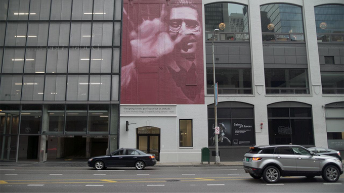 Mural of Moholy-Nagy in downtown Chicago.