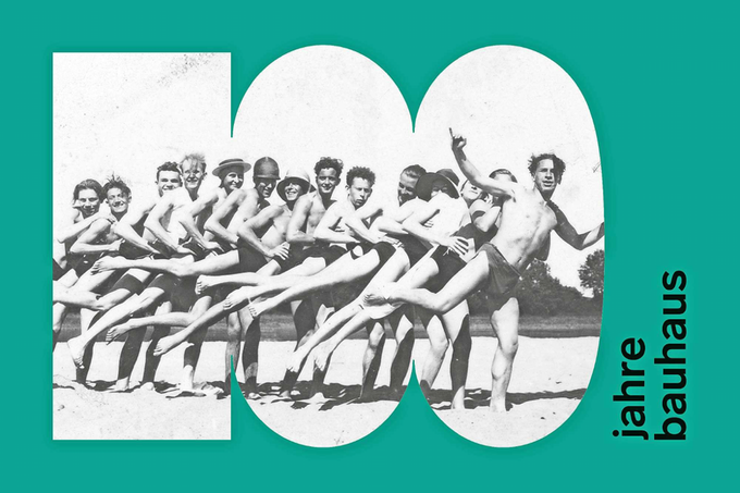 The logo for the German Bauhaus 100 initiative.