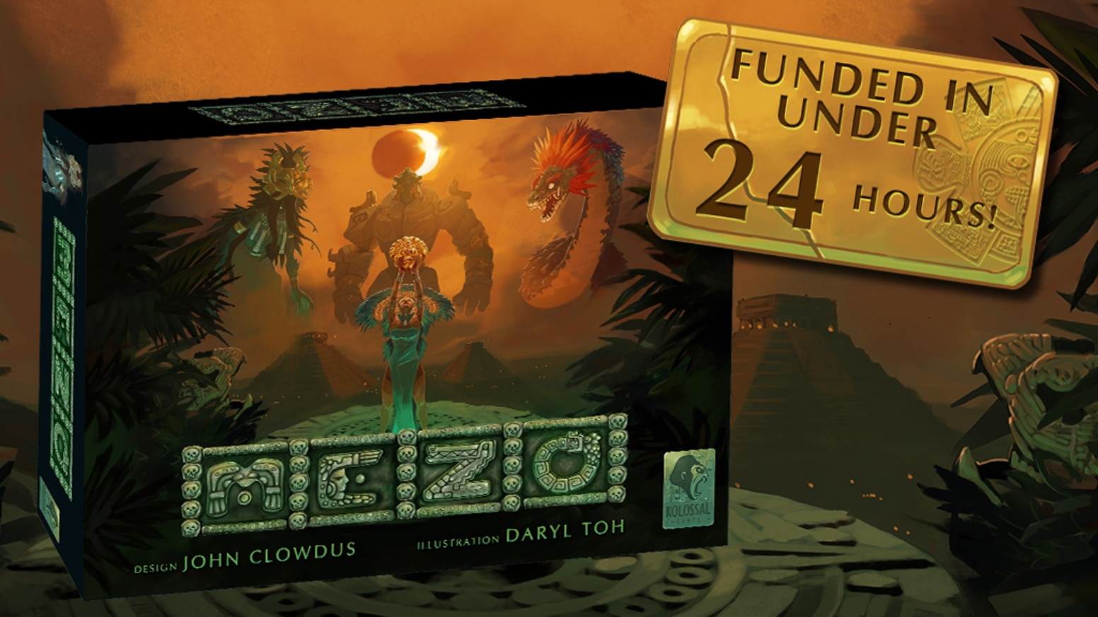 An innovative game of area control, conflict, and Mayan mythology designed by John Clowdus.
