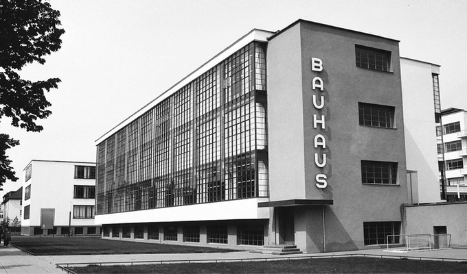 The Bauhaus building in Dessau, designed by founder Walter Gropius.