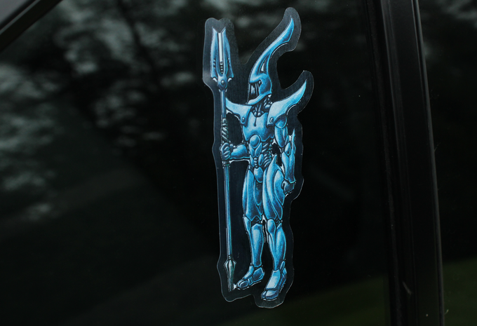 Vinyl Sticker on Car Window