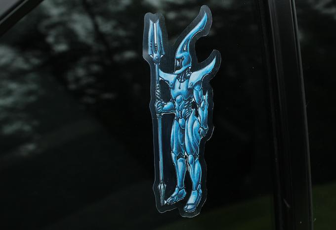 Vinyl Sticker on Car Window