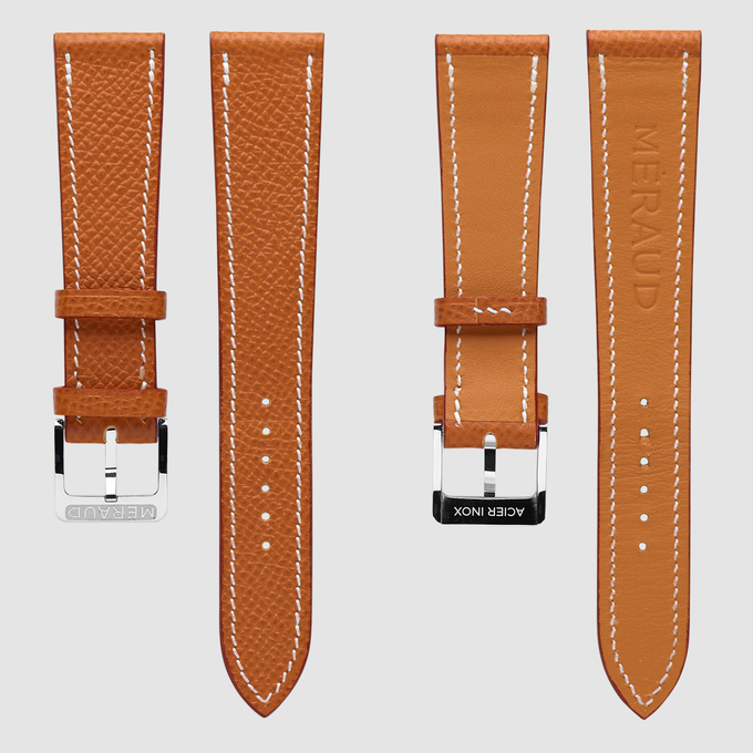 "Cognac colored strap, fits the ""Onyx Black"""