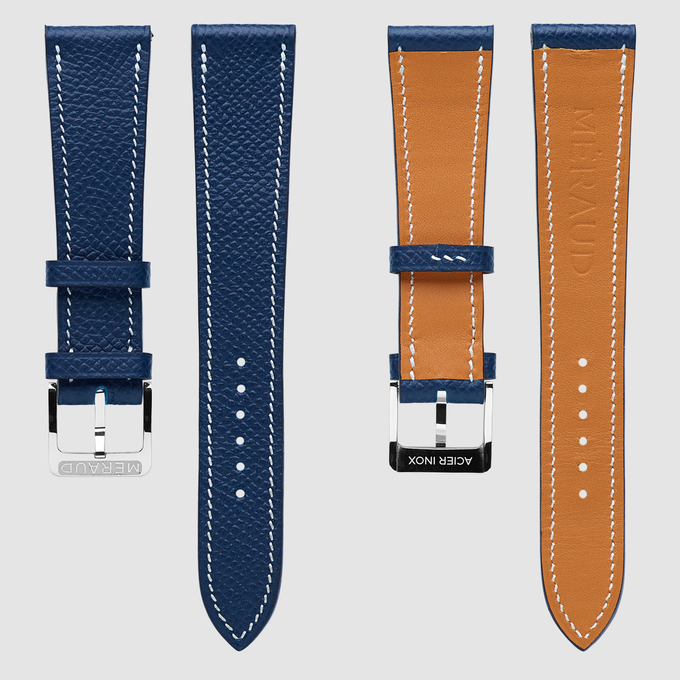 "Blue colored strap, fits the ""Marine Blue"""