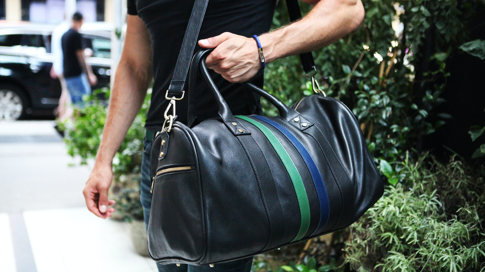 286137b09b Sporty and sophisticated full grain leather duffel bags   backpacks.