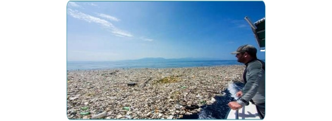 Over 250 million tons of plastic enters the Ocean every year