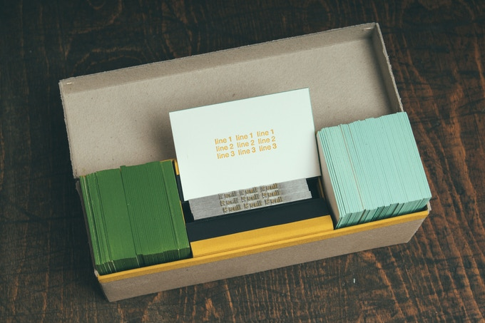 YOUR PERSONAL LINOTYPE CARD SET