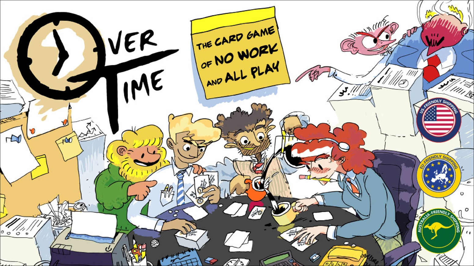 overtime the card game of no work and all play by dažbog games