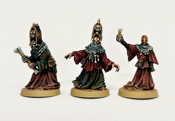 The finished miniatures, fully painted.