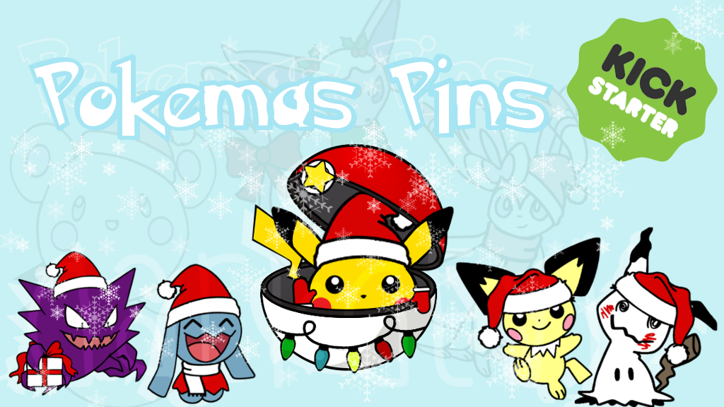 Kawaii Pokemas Seasonal Christmas Pins!