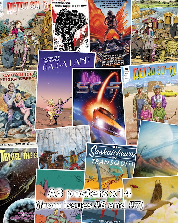 posters (A3 size) x14 - from issues 6 & 7