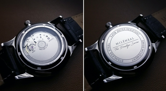 Glass caseback for Automatic | Etched caseback for Quartz