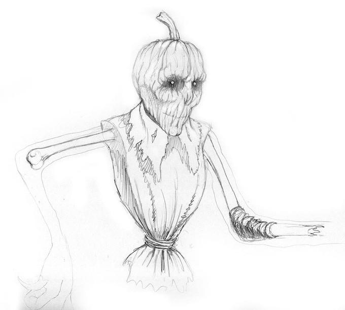 Fearcrow (sketch) by Dan Barker