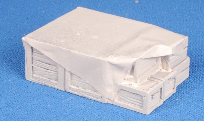 Stack of Crates will come painted.