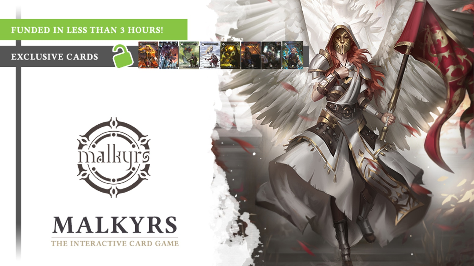 Malkyrs is an interactive trading card game. Fight your friends online with real cards & upgrade them on PC, MAC and NINTENDO SWITCH! If you missed the campaign you  can access to late pledge here: