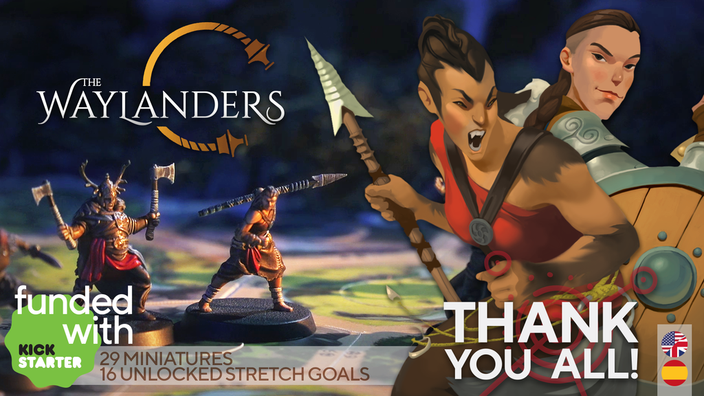 The Waylanders | the board game miniatura de video del proyecto