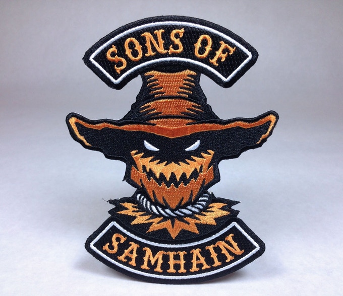 """Sons Of Samhain"" Halloween motorcycle club patch"