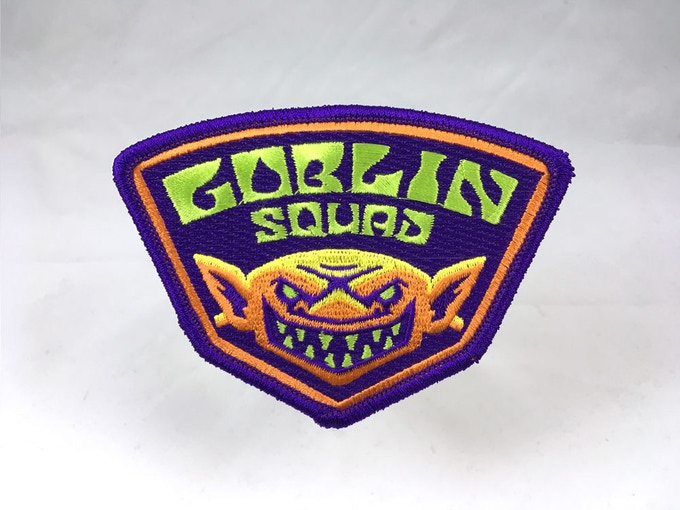 """Goblin Squad"" embroidered patch"