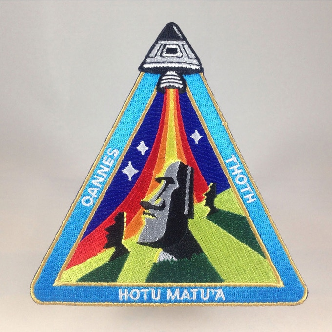 """Easter Island Outpost"" ancient astronaut mission patch"