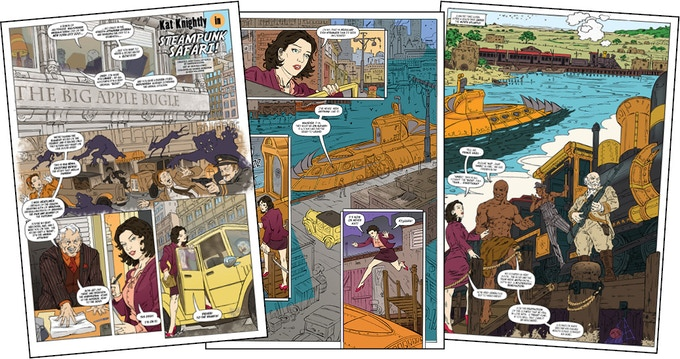 Kat Knightly in Steampunk Safari - issue 6