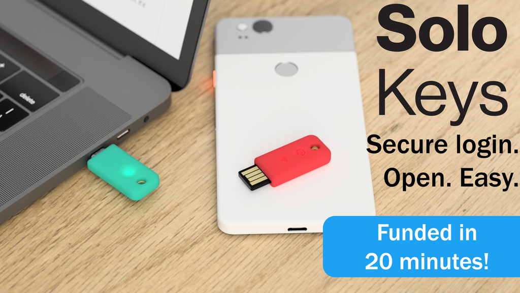 Solo: the first open source FIDO2 security key. USB & NFC. project video thumbnail