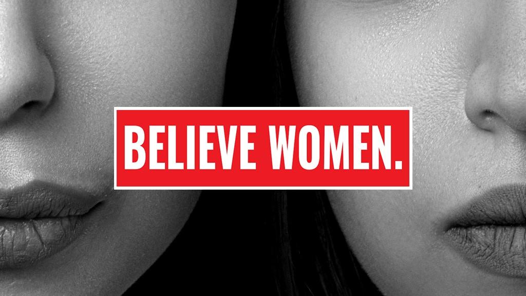 """""""BELIEVE WOMEN."""" bumper sticker project video thumbnail"""