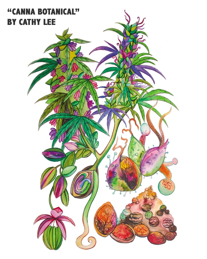 Hemp Art Prints by Cathy Lee Art - $25