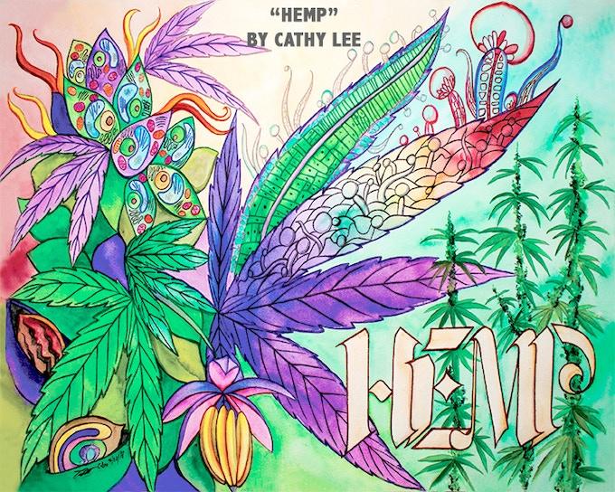Hemp Art Prints by Cathy Lee Art - $25