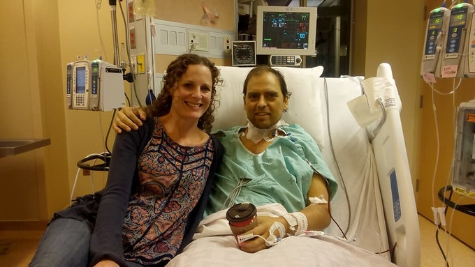 Me with my beautiful wife Rochelle, at Toronto General Hospital in Toronto