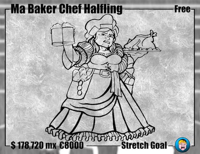 Ma Baker Chef Halfling