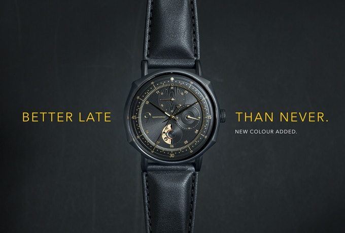 We listened, and decided to make one more. Here it is, all blacked out with a touch of gold.