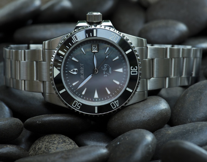 Black Mother of Pearl Dial