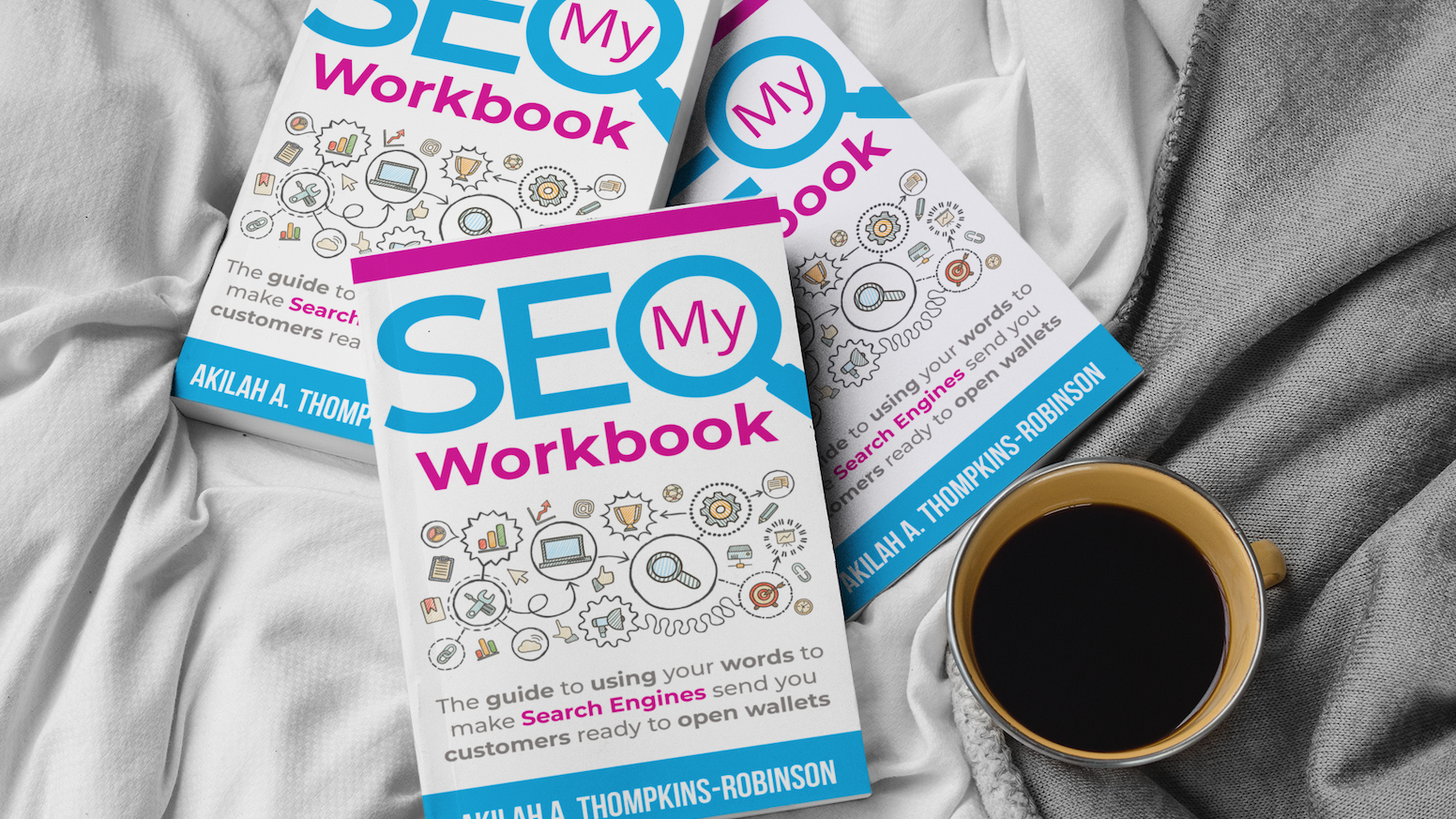 A workbook, planner, and journal to help entrepreneurs not only learn SEO but also get their SEO done