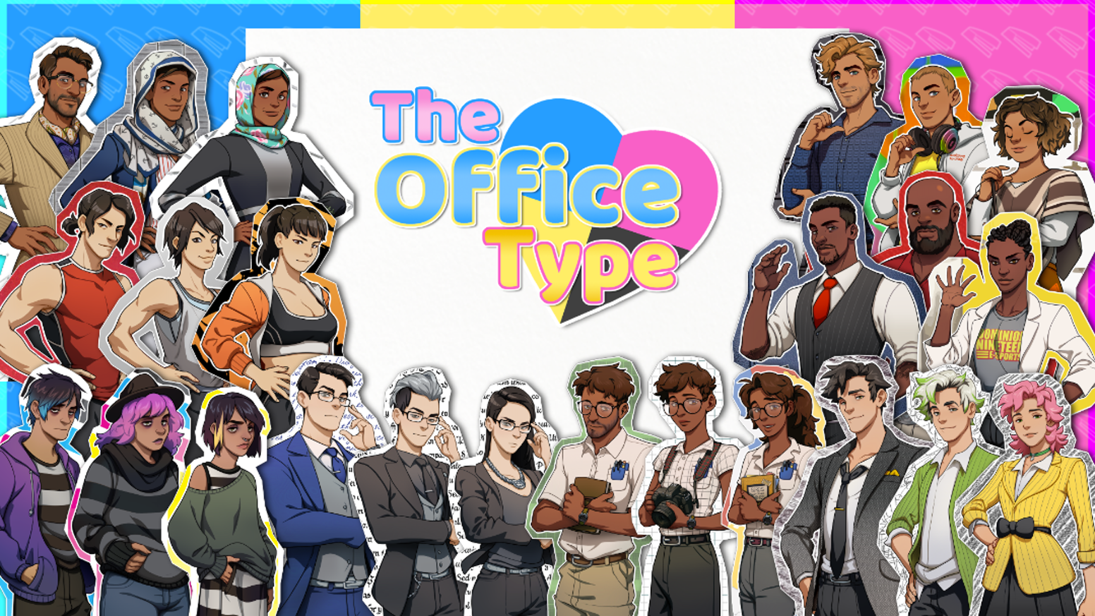 Pick your character roster (m, f, nb) and date your office supplies in this group-centric comedy dating sim game.