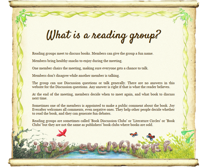 Reading group questions are on the website.