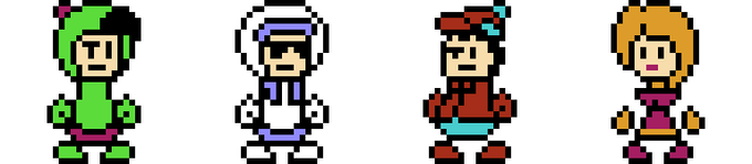 Use these four characters to explore over 90 levels, collecting fish and battling baddies along the way! You can even choose a character and face off against your friends in Two-Player Melee Mode!