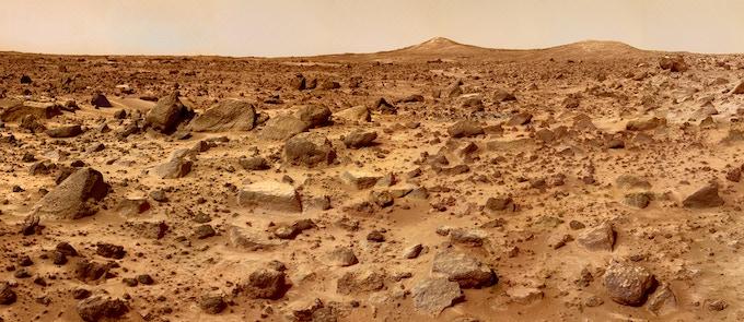 Basalt rocks found at the Pathfinder landing site