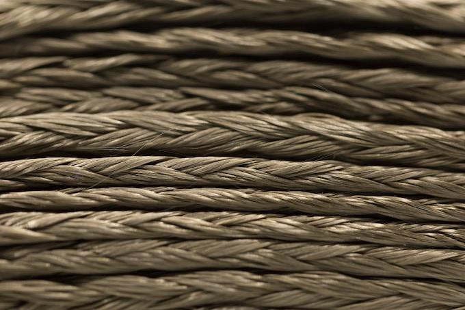 Close-up of basalt fabric