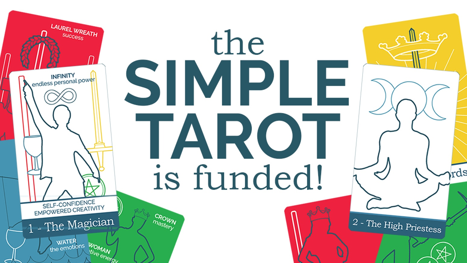 78 minimal and modern tarot cards designed to make learning and using the tarot simple, easy, and fun