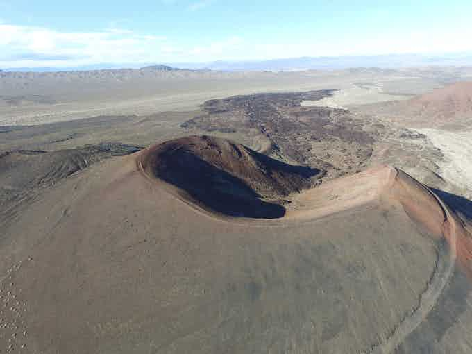 Mojave cinder cone and lava flow