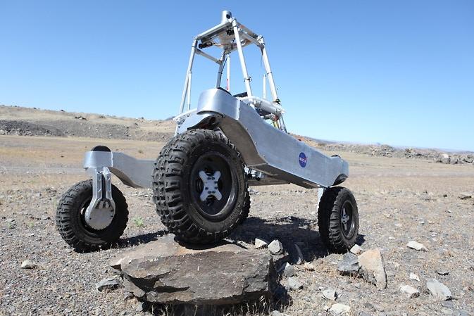 NASA rover exploring the Mojave desert