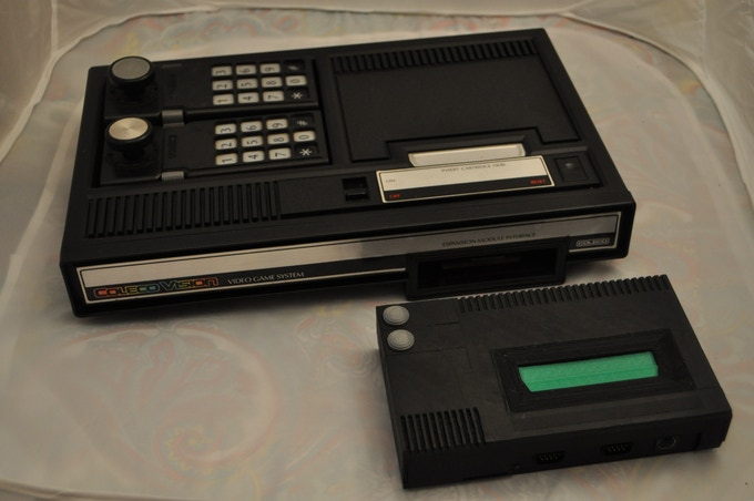 CollectorVision Phoenix next to Original ColecoVision(Cartridge doors will be silver like the power and reset buttons)