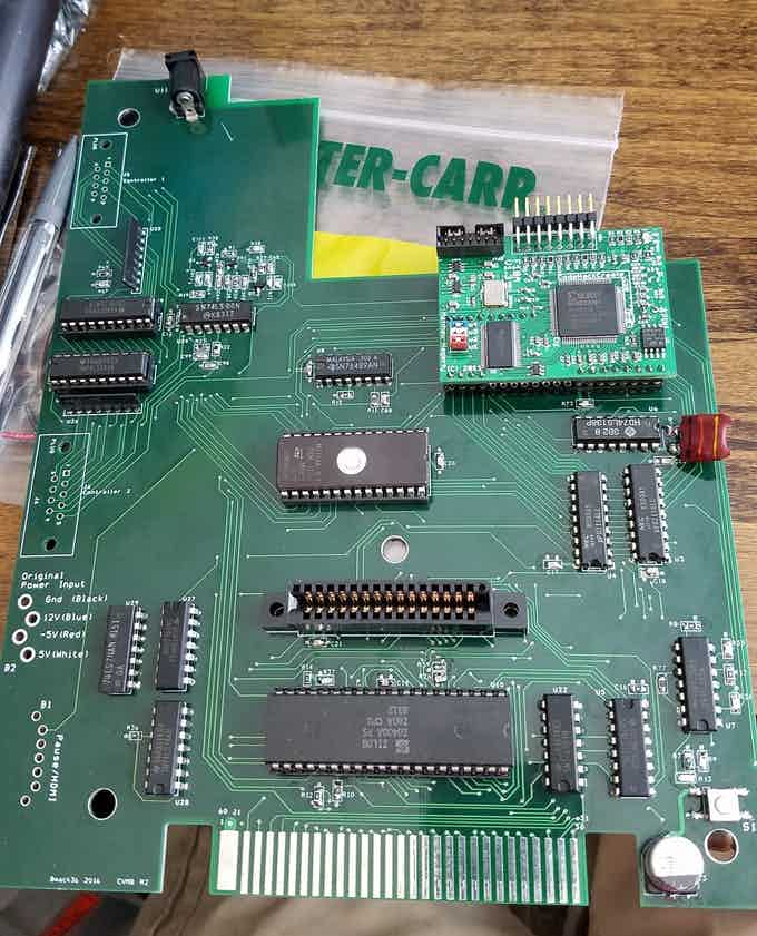 Early prototype of ColecoVision replacement board with F18a Functionality