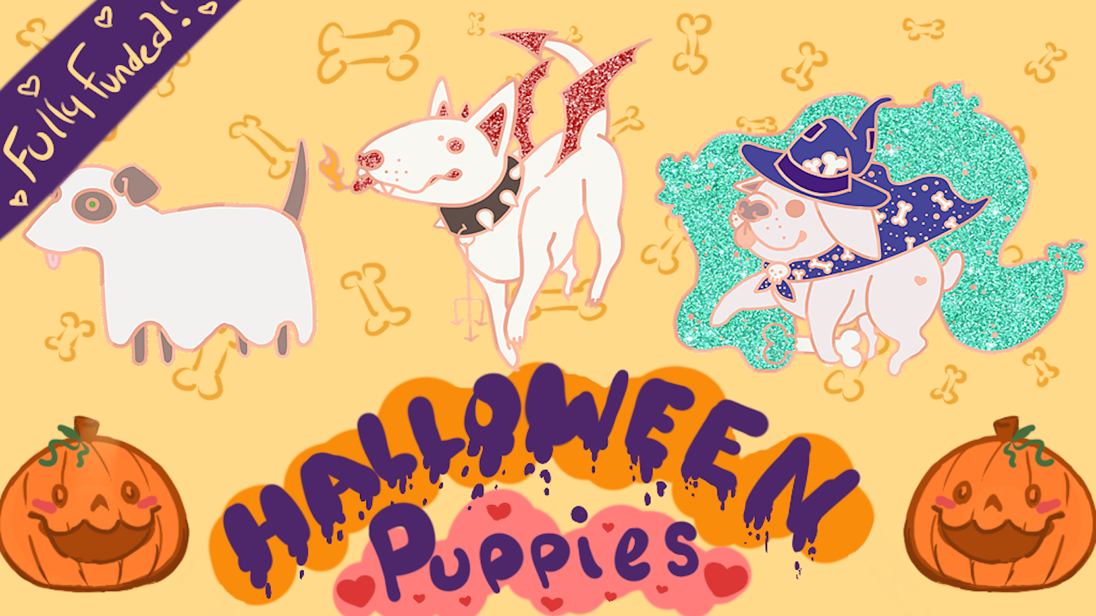 Halloween Puppies An Enamel Pin Set By Ari Kavana Kickstarter