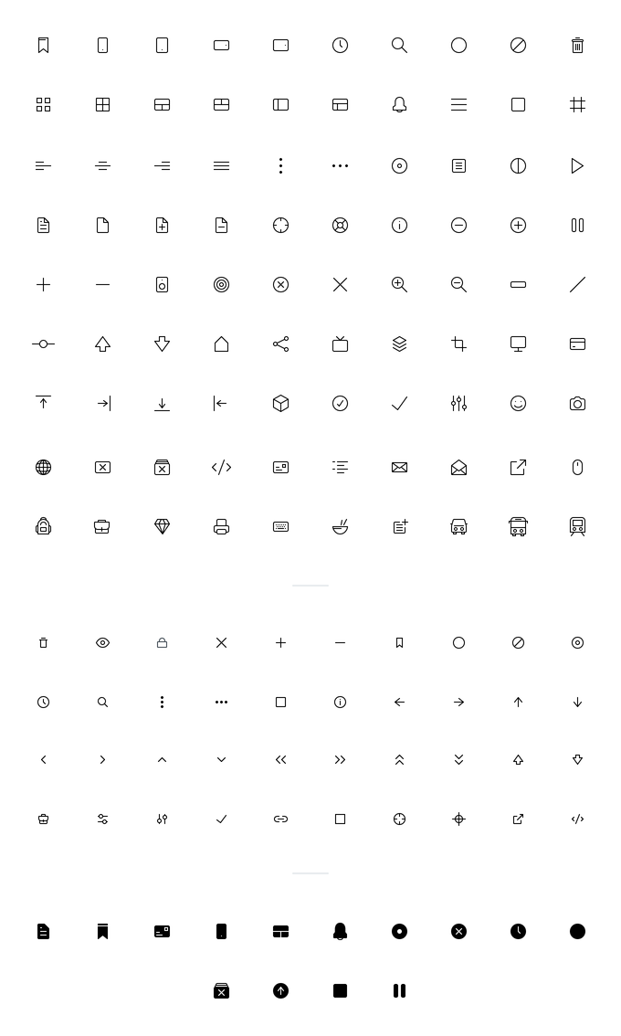 A sample of Modulz icons.