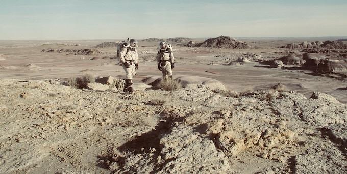 Made of Mars Founder, Dr. J.R. Skok, at the Mars Desert Research Station in Utah